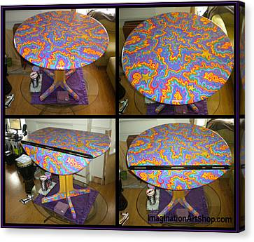 One Of A Kind Canvas Print - Sharpie Star Table by Mandy Shupp