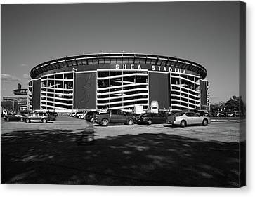 Shea Stadium - New York Mets Canvas Print by Frank Romeo