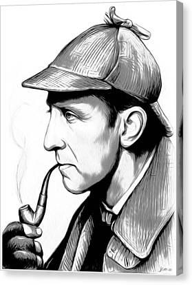 Sherlock Holmes Canvas Print by Greg Joens