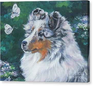 Shetland Sheepdog Canvas Print by Lee Ann Shepard