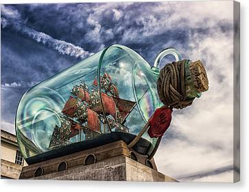 Ship In A Bottle Canvas Print by Martin Newman