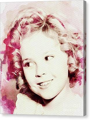 Shirley Temple Canvas Print - Shirley Temple, Vintage Actress by John Springfield