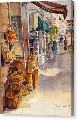Canvas Print featuring the painting Shopping In Tenterden by Beatrice Cloake