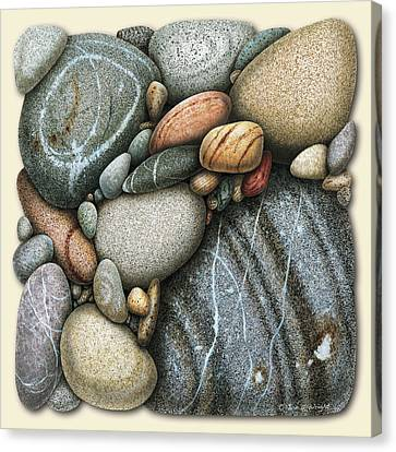 Jon Q Wright Canvas Print - Shore Stones 3 by JQ Licensing