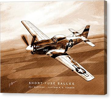 Short-fuse Sallee Canvas Print
