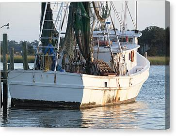 Shrimp Boat Canvas Print by Dustin K Ryan