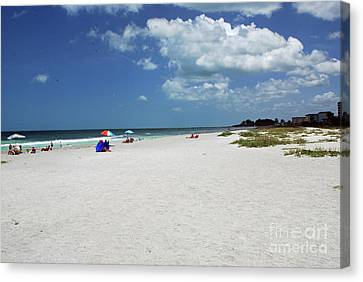 Canvas Print featuring the photograph Siesta Key Beach by Gary Wonning