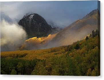 Canvas Print featuring the photograph Siever's Mountain by Steve Stuller