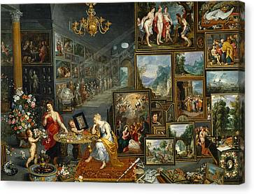 Sight And Smell Canvas Print by Jan Brueghel the Elder