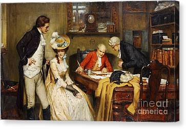 Signing The Marriage Contract Canvas Print by MotionAge Designs