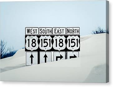 Signs Of Snow Canvas Print by Todd Klassy