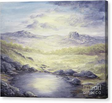 Canvas Print featuring the painting Silence by Cathy Cleveland