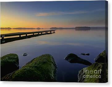 Canvas Print featuring the photograph Silence Lake by Franziskus Pfleghart