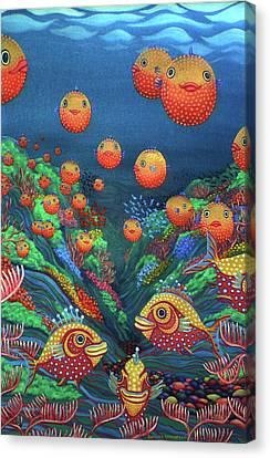 Sillyfish 2 Canvas Print by Barbara Stirrup
