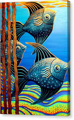 Sillyfish 3 Canvas Print by Barbara Stirrup