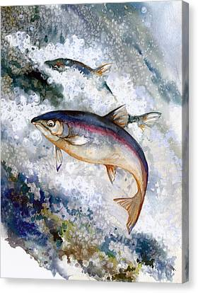 Silver Salmon Canvas Print by Peggy Wilson