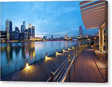 Singapore - Marina Bay Canvas Print by Ng Hock How