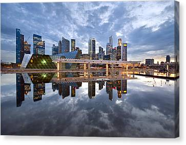 Singapore Cityscape Canvas Print by Ng Hock How