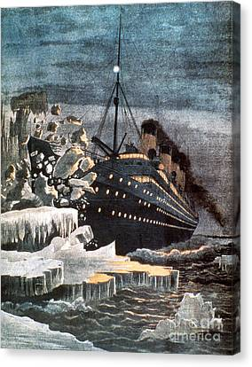 Sinking Of The Titanic Canvas Print by Granger