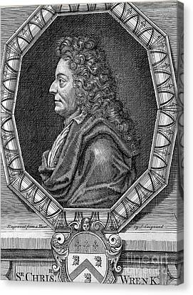 Sir Christopher Wren, Architect Canvas Print by Wellcome Images