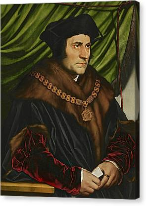 Sir Thomas More Canvas Print by Hans Holbein the Younger