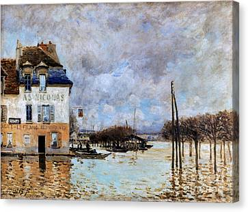 Sisley: Flood, 1876 Canvas Print by Granger
