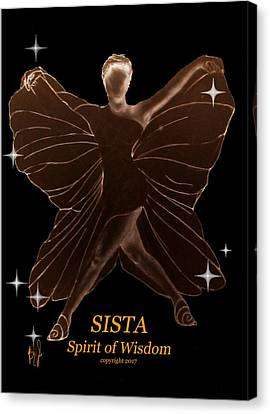 Sista - Spirit Of Wisdom Canvas Print by Benny Jones Jr
