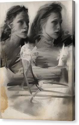 Sisters Canvas Print by H James Hoff