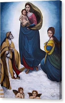 Sistine Madonna Canvas Print by Judy Kirouac