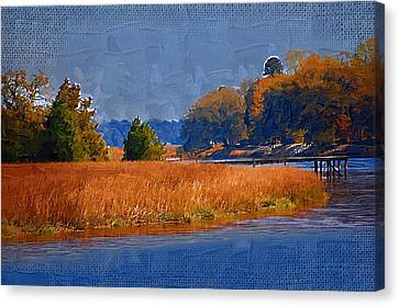 Sitting On The Dock Canvas Print by Donna Bentley