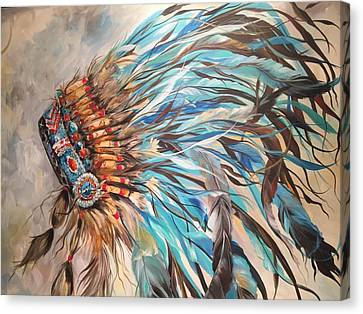Sky Feather Canvas Print by Heather Roddy