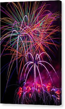 Fireworks Canvas Print - Sky Full Of Fireworks by Garry Gay