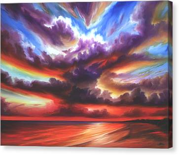 Canvas Print featuring the painting Skyburst by James Christopher Hill