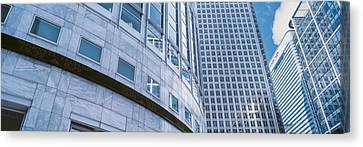 Skyscrapers In A City, Canary Wharf Canvas Print by Panoramic Images