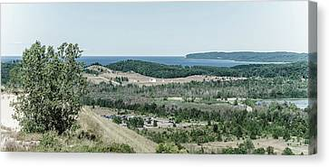 Canvas Print featuring the photograph Sleeping Bear Dunes National Lakeshore by Alexey Stiop