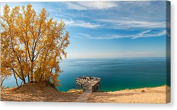 Sleeping Bear Overlook Canvas Print by Larry Carr