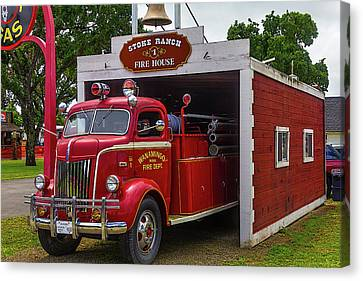 Small Fire House 1 Canvas Print by Garry Gay