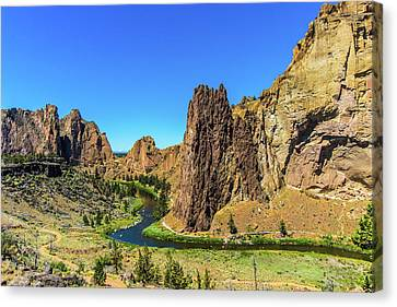 Canvas Print featuring the photograph Smith Rock by Jonny D