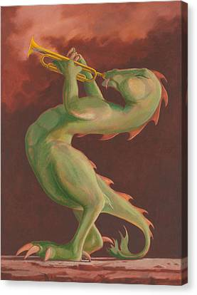 Smokin' Canvas Print by Leonard Filgate