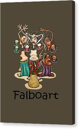 Smoking Belly Dancers Canvas Print by Anthony Falbo