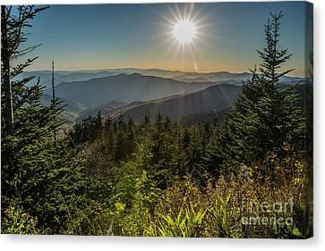 Smoky Mountain View Canvas Print by Patrick Shupert