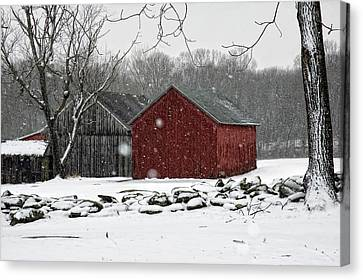 Snow Barns Canvas Print