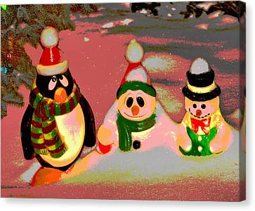 Snow Buddies Canvas Print by Robert Joseph