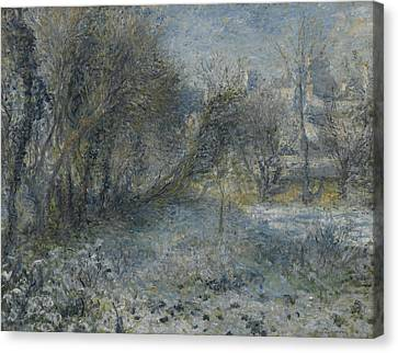 Snow Covered Landscape Canvas Print by Auguste Renoir