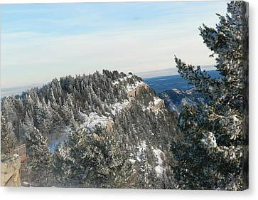 Snow In The Sandias Canvas Print