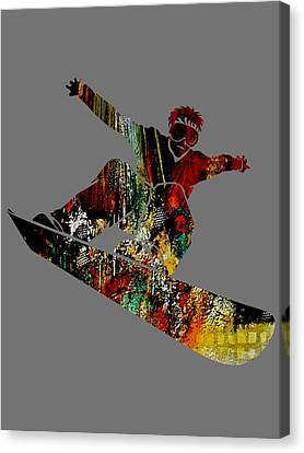 Snowboarder Collection Canvas Print