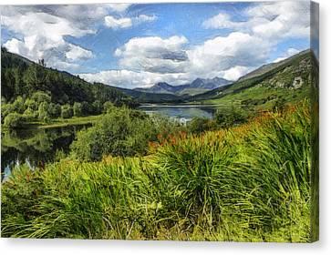 Snowdon View Canvas Print by Ian Mitchell