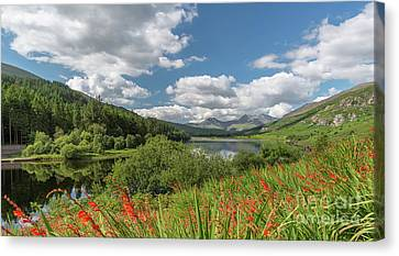 Snowdonia Lake Canvas Print by Adrian Evans