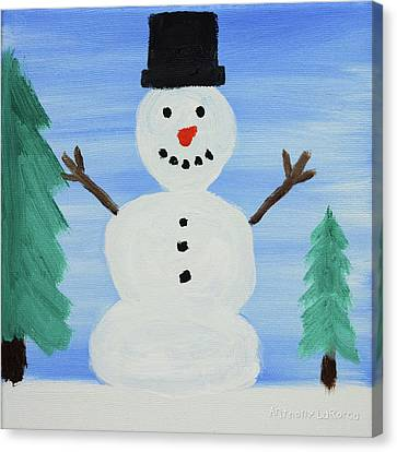 Snowman Canvas Print by Anthony LaRocca
