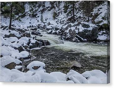 Snowy Merced River Canvas Print